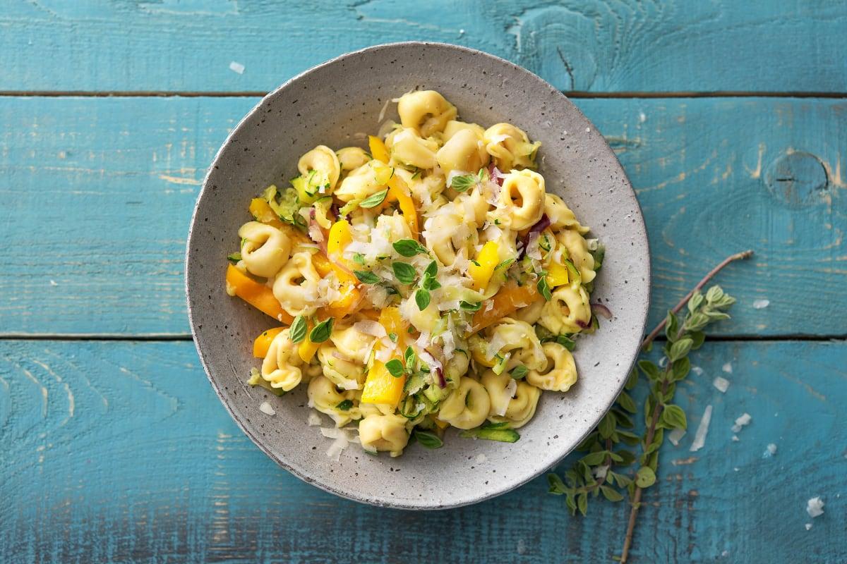 Pilz-Fiorelli mit viel frischem Gemüse