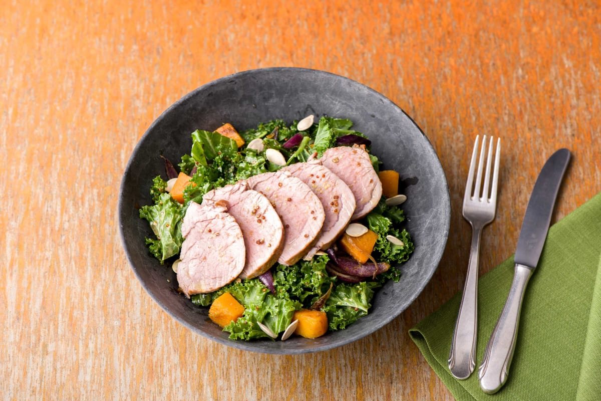 Pork, Kale & Sweet Potato Salad