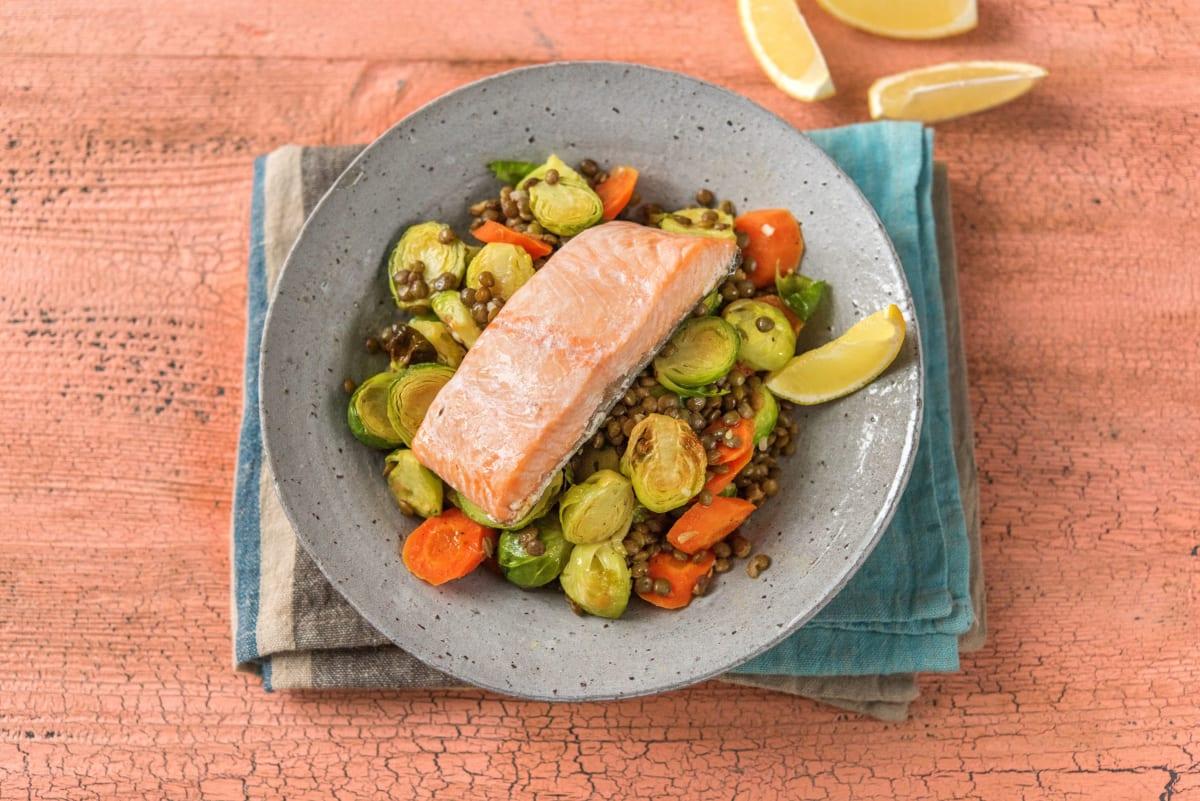 Bistro Salmon and Lentils