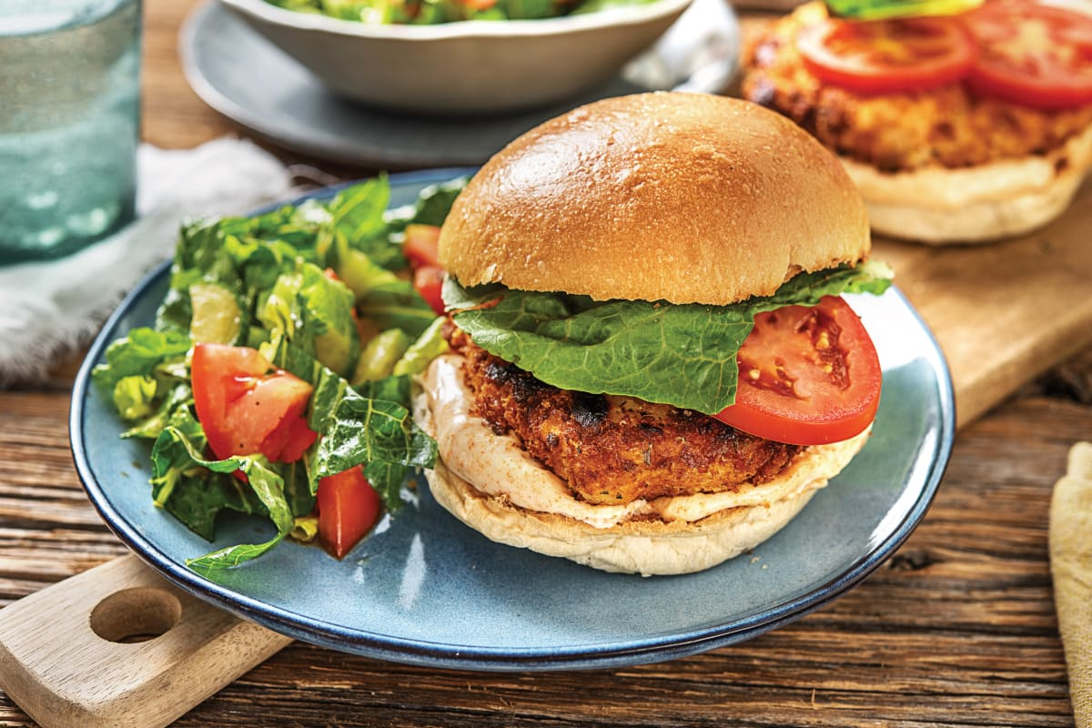 Rosemary & Parmesan-Crumbed Chicken Burger