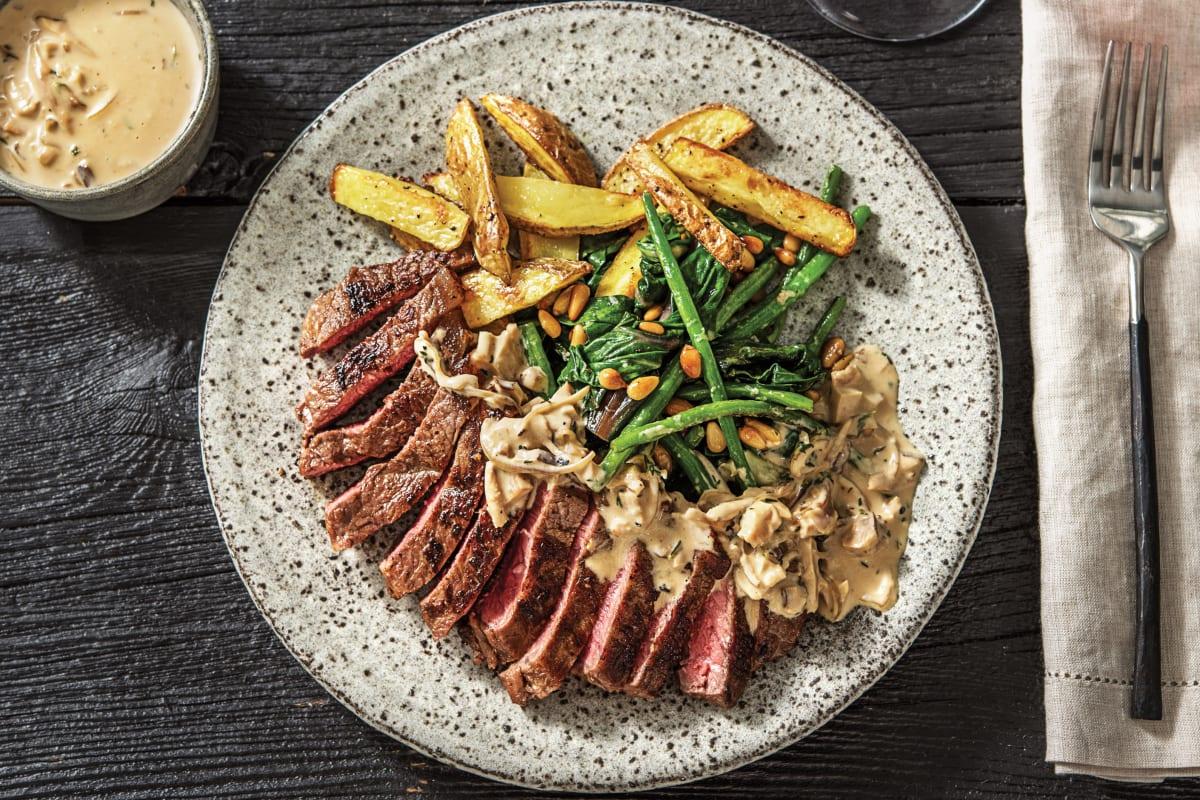 Sirloin Steak & Porcini Mushroom Sauce