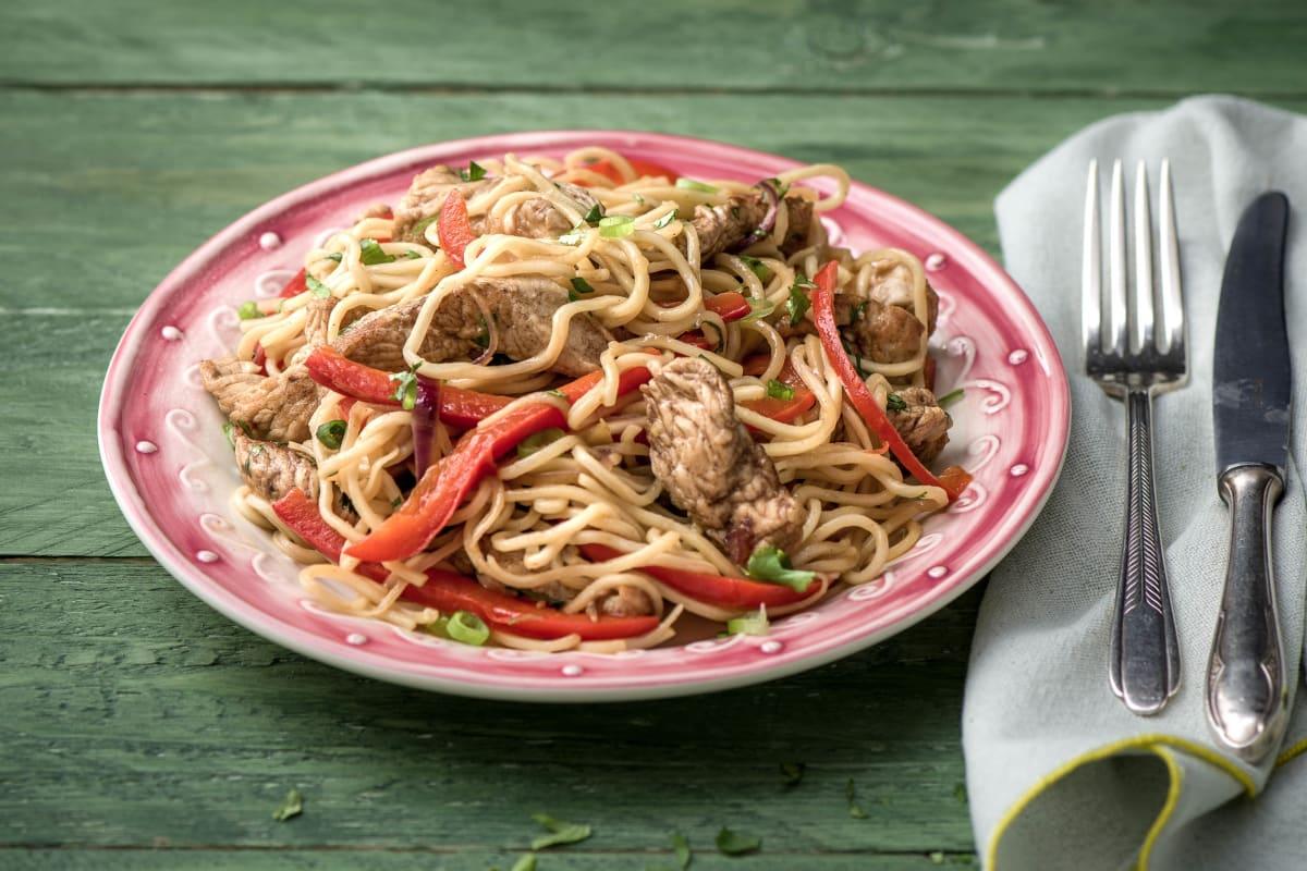 Shanghai Style Turkey Stir Fry with Noodles