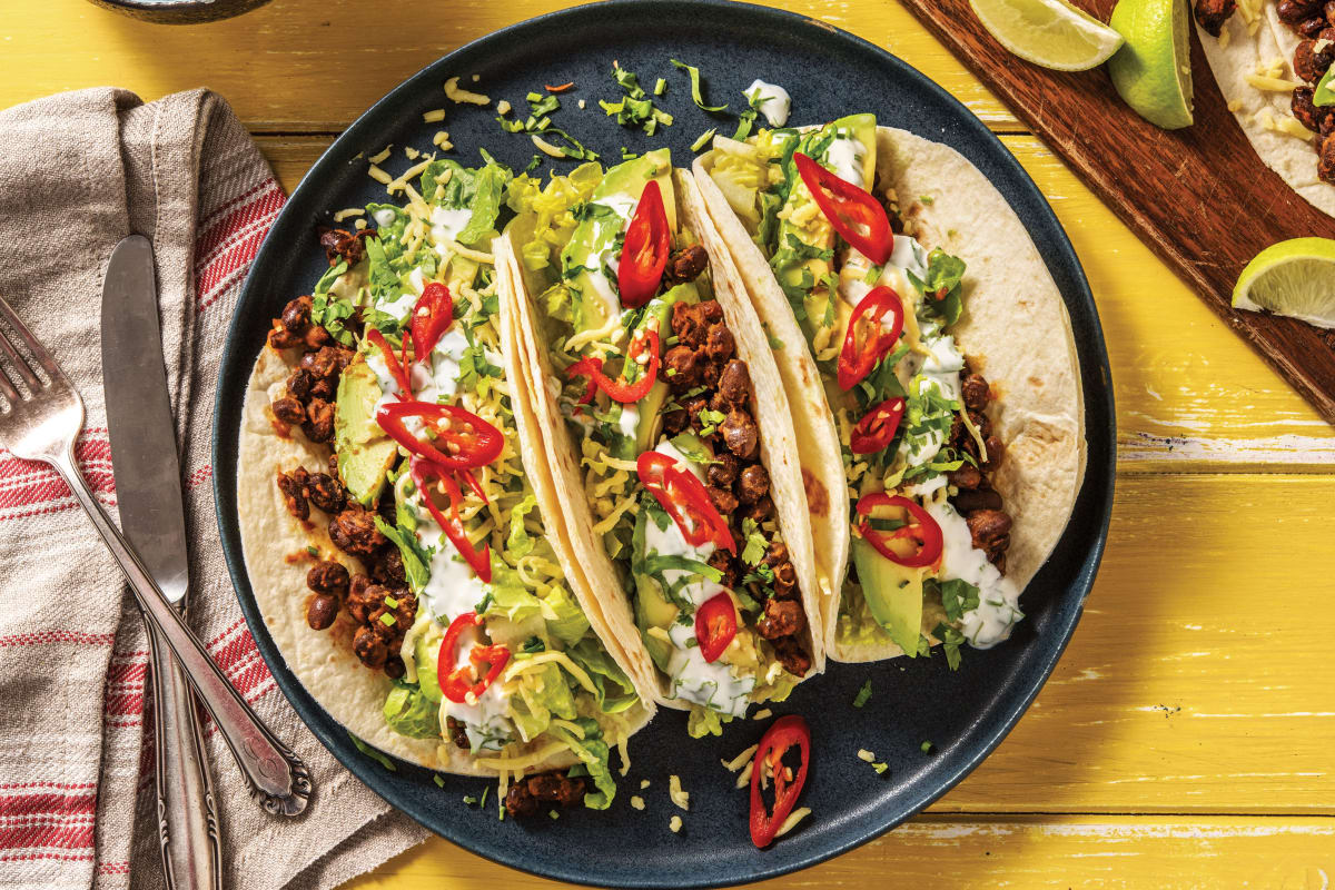 Speedy Mexican Fiesta Black Bean Tacos