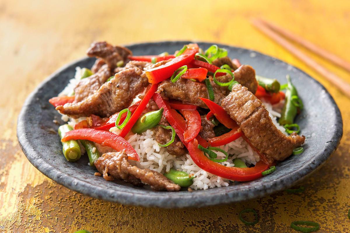 Stir-Fry mit Rindsfleisch