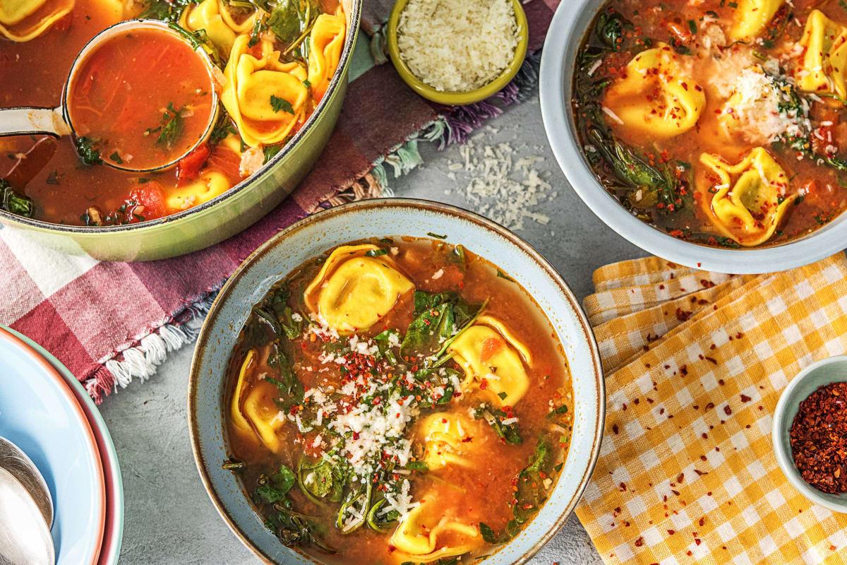 Tomato-y Tortelloni Soup