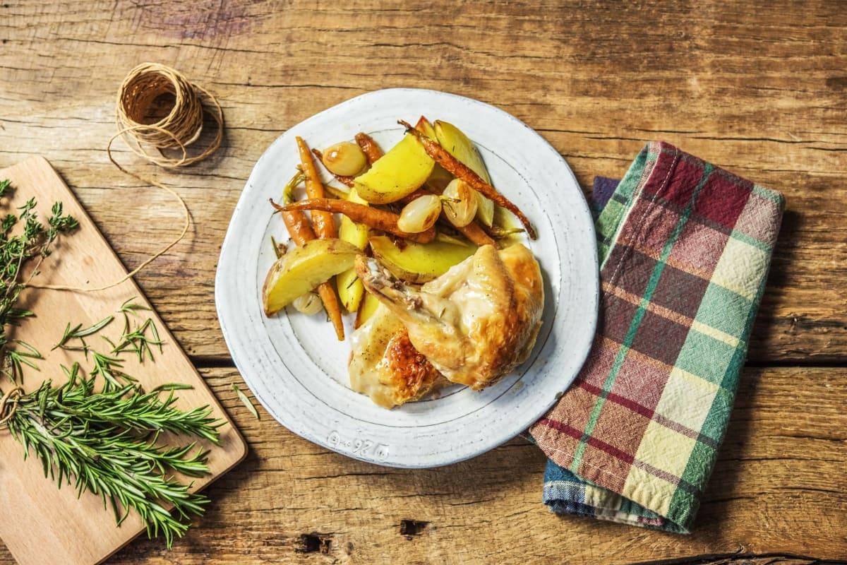 Roasted Half-Chicken Dinner