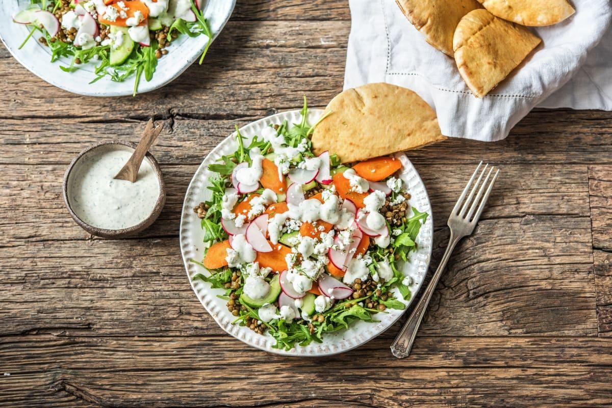 Crunchy Veggie and Lentil Salad