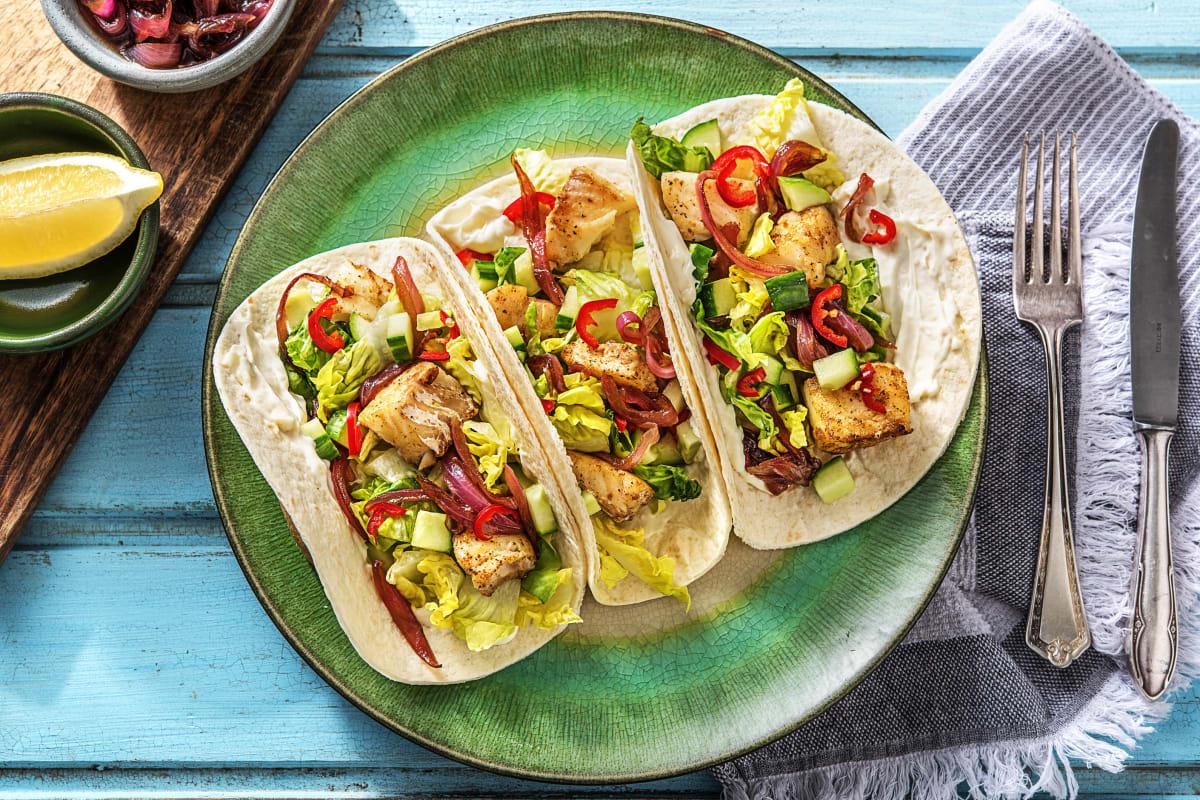 Würzige Cajun-Fisch-Tacos