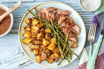 Hellofresh get cooking meal kit delivery order food figgy balsamic pork forumfinder Image collections