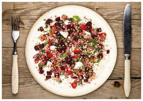 Spritziges Rote Beete Tabouleh