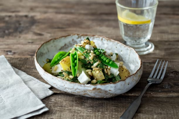 An Inventive Springtime Pea and Mint Salad