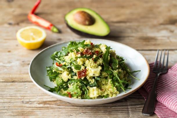 """Lauwarmer Couscous-Salat """"Tricolor"""""""