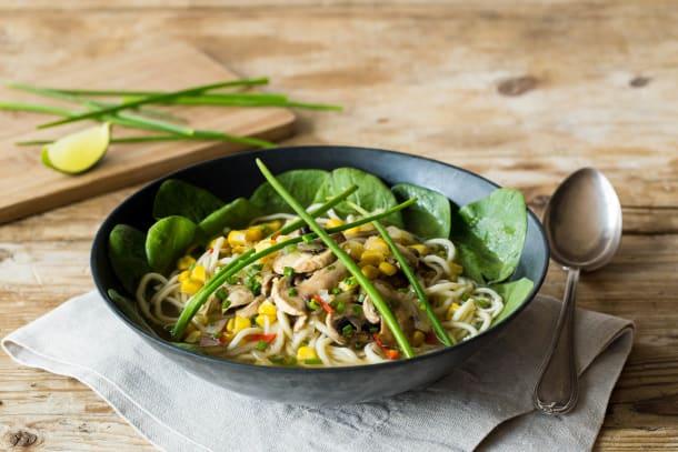 Mushroom & Corn Noodle Soup