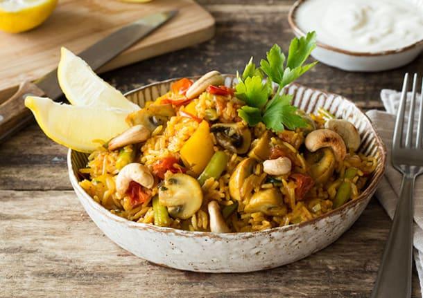 Bunte Gemüse-Paella