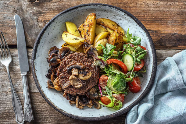 Steak haché au champignons