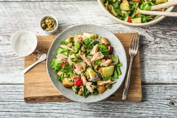 Caloriearme recepten - Salade met tonijn en opperdoezer ronde