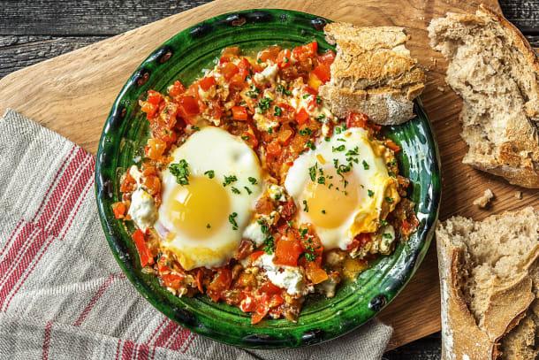 Chakchouka traditionnelle aux œufs