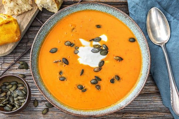Soupe de poivron et de patates douces