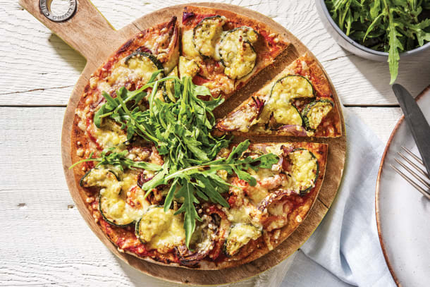 Roasted Pesto Veggie Pizza