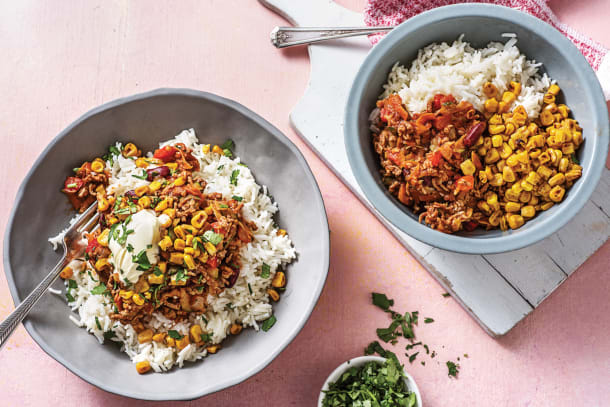 Mexican Beef & Bean Rice Bowl