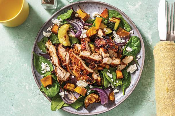Low Calorie Meals - Honey-Mustard Chicken & Roast Veggies