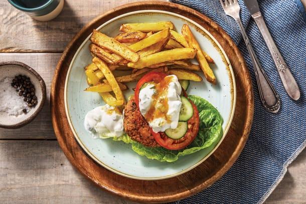 Low Calorie Meals - Tandoori Lentil Bunless Burger