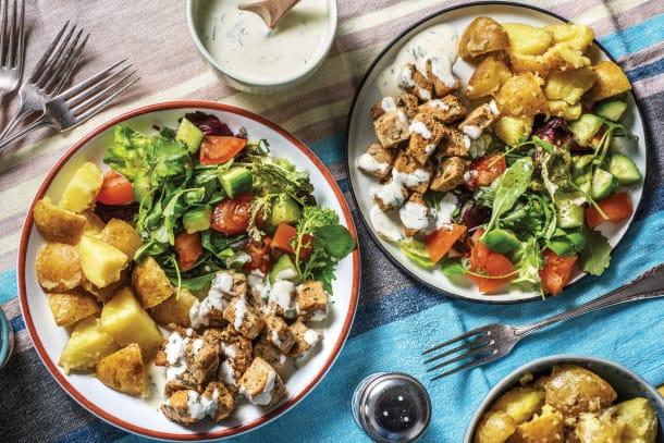 Greek Pork & Crushed Lemon Potatoes
