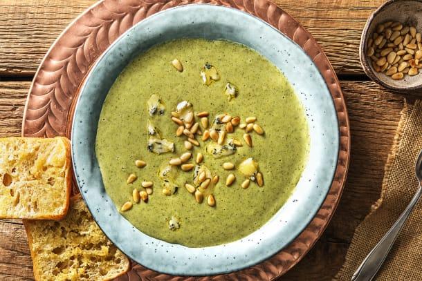 Velouté de brocoli au fromage danablu
