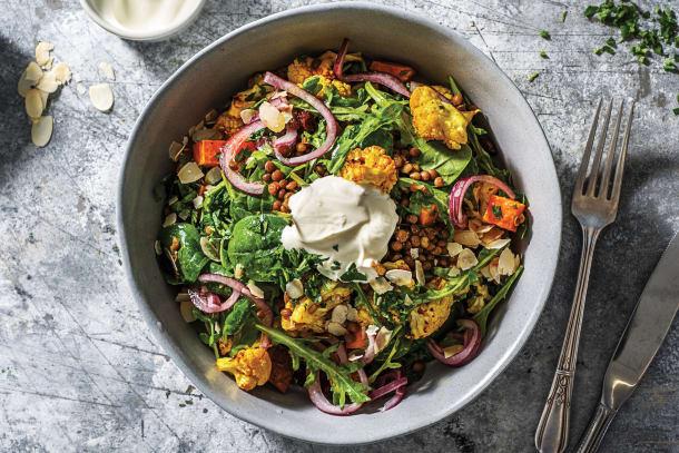 Low Calorie Meals - Indian Cauliflower & Lentil Bowl