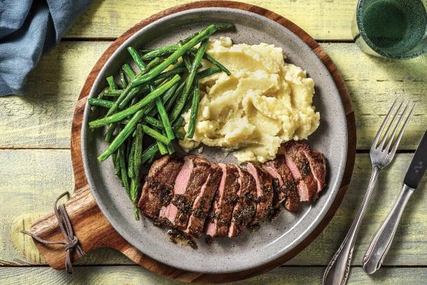 Low Calorie Meals - Rosemary Garlic Lamb Steak