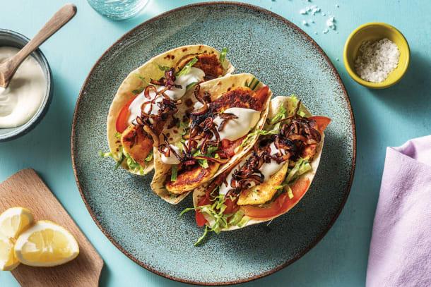 Quick Dinner Ideas - Garlic & Oregano Haloumi Tacos
