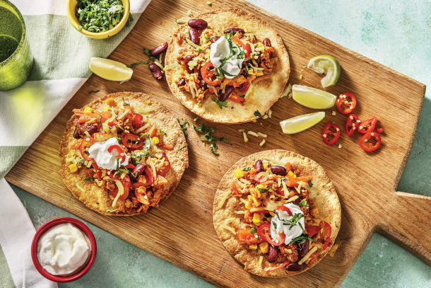 Quick Dinner Ideas - Mexican Pork Tostadas