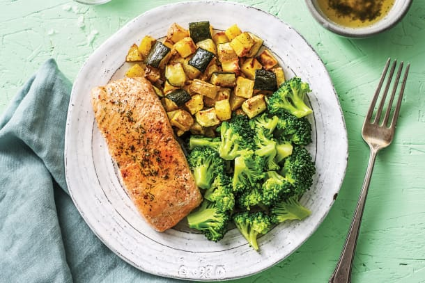 Low Calorie Meals - Seared Salmon & Lemon Sauce