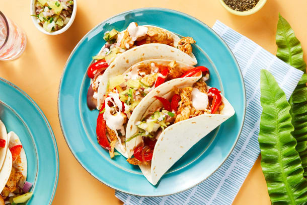 Hall Of Fame - One-Pan Tropical Chicken Tacos