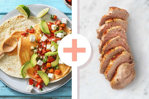 Rauchige Tacos mit Cajun-Schweinefilet