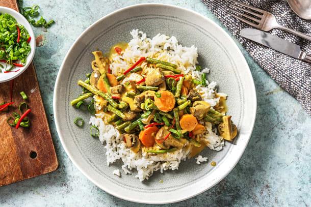 Gelbes Kokos-Gemüse-Curry