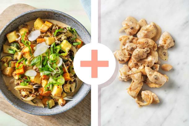 Massaman-Curry mit extra Hähnchenbrust
