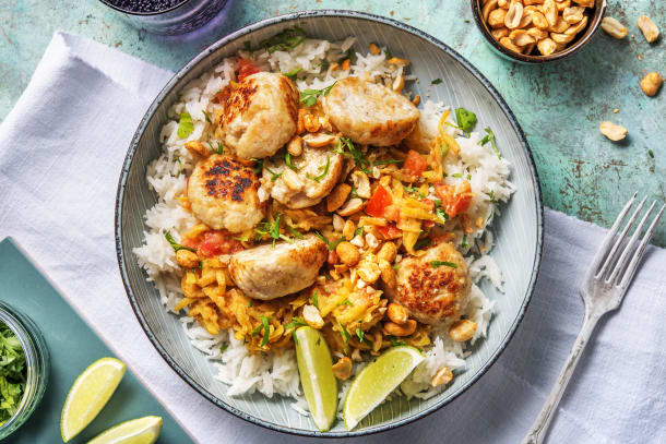 Curry vert aux boulettes de poulet