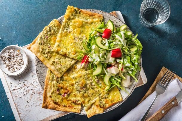 Schnelle Gerichte - Flammkuchen mit Mozzarella