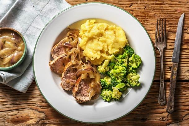 Gesunde Gerichte - Schweinefilet mit Honig-Rosmarinsoße