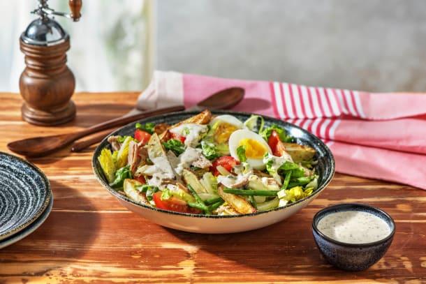 Salade niçoise mit Kapern, Ei & Thunfisch