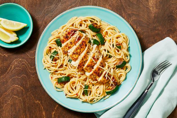 Quick meals - Italian Chicken over Lemony Spaghetti