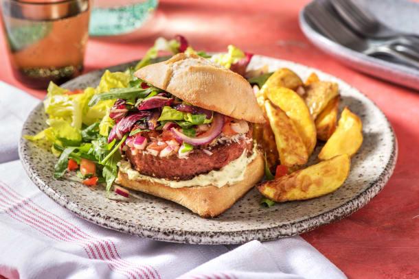 Hamburger végétarien à l'italienne