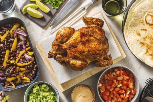 Mexikanisches Hähnchen mit Chipotle-Dip