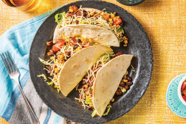 Quick Dinner Ideas - Chipotle Black Bean Tacos