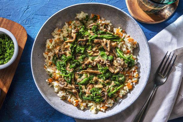 Vegetarisches Pilz-Stroganoff