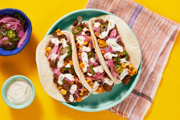 Mexican Pork & Street Corn Tacos