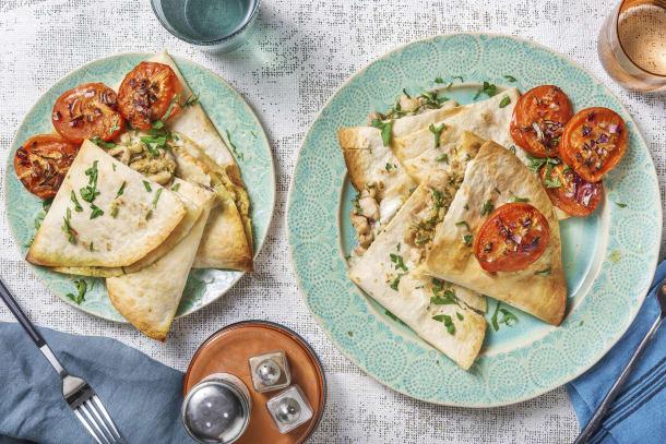 Recettes rapides - Piadina au poulet et à la mozzarella