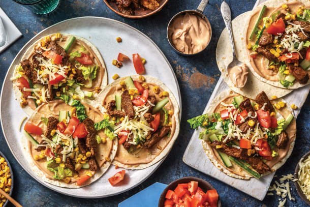 Quick Dinner Ideas - American BBQ Beef Tacos