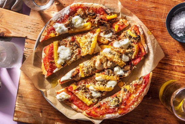 Snelle recepten - Italiaanse platbroodpizza's met buffelmozzarella